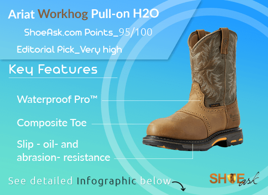 Ariat Workhog Pull-on H2O Work Boots Review 2021