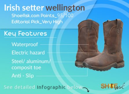Irish Setter Men's 83907 Wellington Work Boot Review