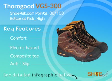 Thorogood VGS-300 Composite Toe Work and Hiking Gel Shoes (804 Series)